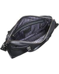 Tumi Irving Slim Black Leather Bag - Lyst