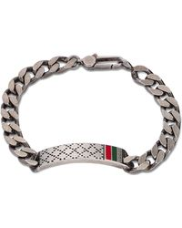 Gucci Diamante Id Bracelet With Web - Lyst
