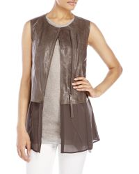 D'deMOO | Mixed Media Leather Vest | Lyst