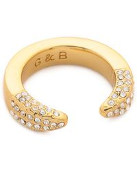 Giles & Brother - Double Spike Pave Ring - Lyst