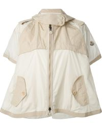 Moncler Flared Cropped Mac - Lyst