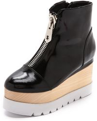 Jeffrey Campbell Kinkling Booties - Black/White - Lyst