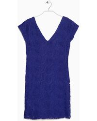 Mango Blue Lace Dress - Lyst