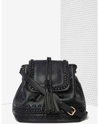 Nasty Gal Blythe Vegan Leather Shoulder Bag - Lyst