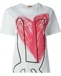 Peter Jensen Printed T-Shirt - Lyst