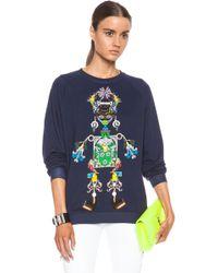 Mary Katrantzou Tikki Man Cottonblend Sweatshirt - Lyst