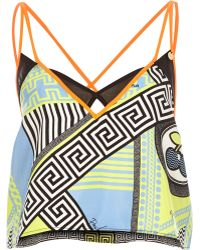 River Island Blue Pacha Print Strappy Cami Top - Lyst