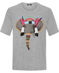 Markus Lupfer Tribal Elephant Sequin T-Shirt gray - Lyst