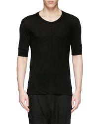 The Viridi-anne Centre Seam Slub Cotton Jersey T-Shirt - Lyst