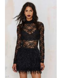Nasty Gal | Lace For Words Keyhole Blouse | Lyst
