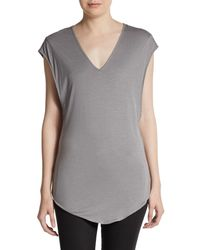 Helmut Lang Twisted Back Jersey Top - Lyst