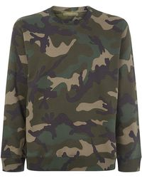 Valentino Camouflage Studded Sweater - Lyst