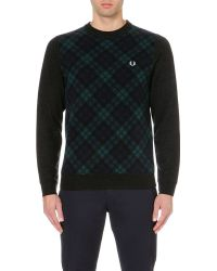 Fred Perry Tartan Front Jumper - Lyst