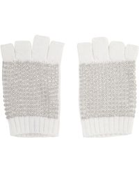 BCBGMAXAZRIA Sequin Fingerless Gloves - Lyst