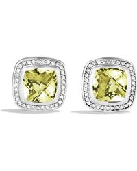 David Yurman - Albion Earrings With Lemon Citrine & Diamonds - Lyst