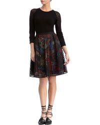 Rachel Roy - Grid Lace Flare Skirt - Lyst