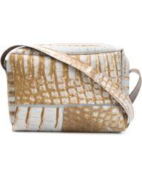 Luisa Cevese Riedizioni - Lizard Skin Print Shoulder Bag - Lyst