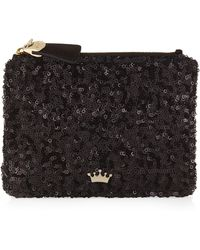 Elaine Turner - Sequined Coin Purse with Key Ring - Lyst