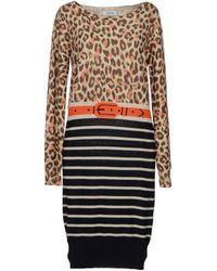 Sonia By Sonia Rykiel Brown Kneelength Dress - Lyst