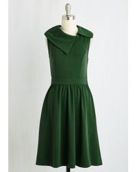ModCloth | Trolley Tour Dress In Pine | Lyst