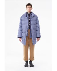 3.1 Phillip Lim - Striped Oversized Down Coat - Lyst