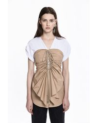 3.1 Phillip Lim - Layered Corseted-front Top - Lyst
