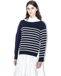 3.1 Phillip Lim - Overlaid Sailor Pullover - Lyst