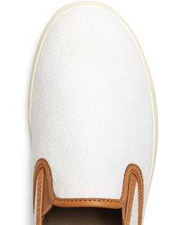 Brooks Brothers - Canvas Trainers - Lyst