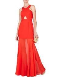 BCBGMAXAZRIA Ria Crisscross Front Gown - Lyst