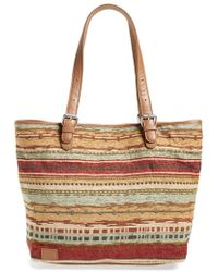 TOMS - 'vacationer' Stripe Woven Tote - Lyst