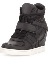 Ash Cool Ter Leather Wedge Sneaker Black - Lyst