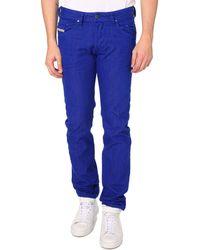 Diesel Belther Royal Blue Regular Slim Fit Denim Jeans - Lyst