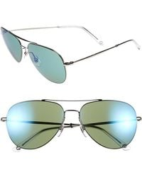 Gucci 59Mm Aviator Sunglasses - Ruthenium - Lyst