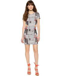 Suno Side Cutout Dress - Geo Print - Lyst