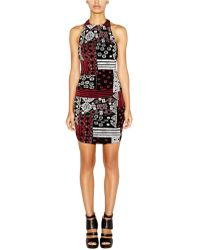 Nicole Miller Patchwork Print Sheath Dress - Lyst