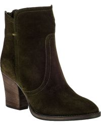 Aquatalia by Marvin K Farah Ankle Boot Forest Suede - Lyst