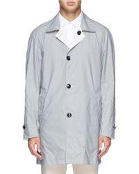 Hardy Amies Reversible Coated Cotton Macintosh Coat - Lyst