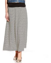 Vince Camuto Teeny Stripe Maxi Skirt - Lyst
