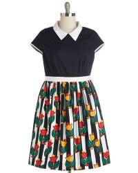 ModCloth Bookstore Browsing Dress - Lyst