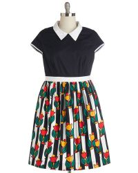 ModCloth Bookstore Browsing Dress multicolor - Lyst