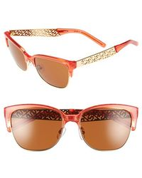 Tory Burch | 56mm Rectangle Sunglasses | Lyst