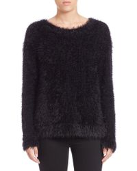 Generation Love Fuzzy Knit Pullover black - Lyst