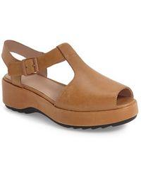 Camper   Dessa Leather Platform Sandals   Lyst