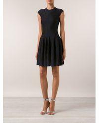 Alexander McQueen Bird Jacquard Full Dress - Lyst