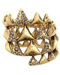 House of Harlow 1960 - Pyramid Pave Wrap Ring - Lyst