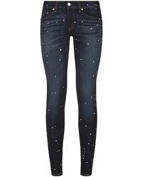 Rag & Bone Anfield Paint Splatter Skinny Jeans - Lyst