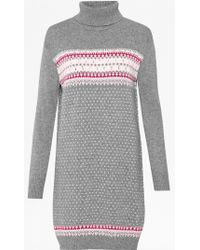 French connection Florence Fairisle Jumper Dress - Lyst