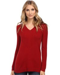 Pendleton Cable Vee Pullover - Lyst