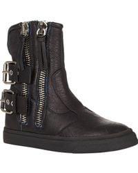 Giuseppe Zanotti Double Zip & Buckle Ankle Boots - Lyst