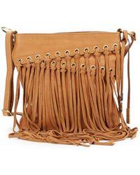 Lucky Brand - Loredo Fringed Leather Crossbody Bag - Lyst